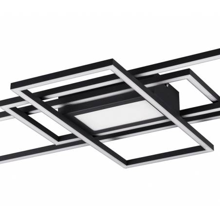 TRIO Irvine 60w dimmable + remote control anthracite ceiling lamp detail