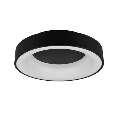TRIO Girona LED 30w dimmable black ceiling lamp