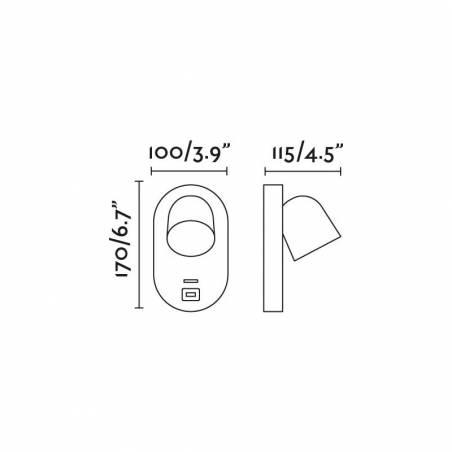 FARO Corb GU10 + USB wall lamp info