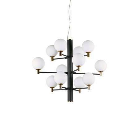 IDEAL LUX Copernico LED 12L G9 black pendant lamp