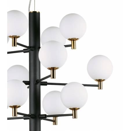 IDEAL LUX Copernico LED 12L G9 black pendant lamp detail