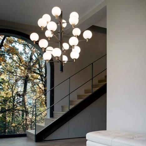 IDEAL LUX Copernico LED 20L G9 black pendant lamp ambient
