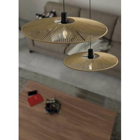 ACB Pamela E27 cord pendant lamp sand