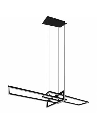 TRIO Salinas LED 34w dimmable black pendant lamp