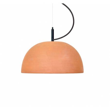 LUXCAMBRA Absis 1L 17cm terracotta pendant lamp