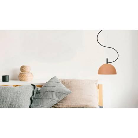 LUXCAMBRA Absis 1L 24cm terracotta pendant lamp ambient