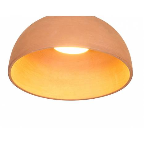 LUXCAMBRA Absis 1L 24cm terracotta pendant lamp diffuser