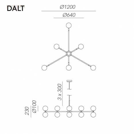 AROMAS Dalt 6L marble pendant lamp info