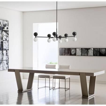 AROMAS Dalt 6L marble black pendant lamp ambient