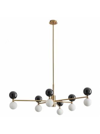 Lámpara colgante Dalt 6L mármol negro oro - Aromas