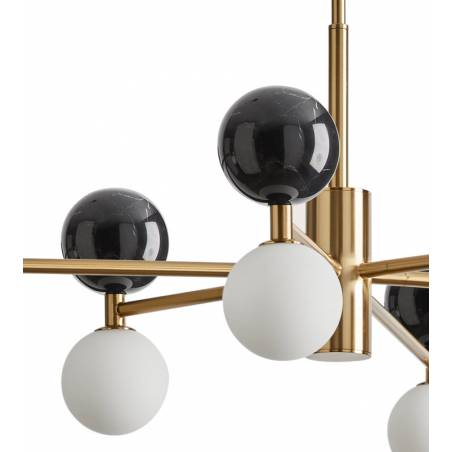 AROMAS Dalt 6L marble black gold pendant lamp detail