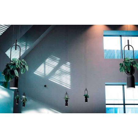 LUXCAMBRA Oxygen LED 2L black pendant lamp ambient 2