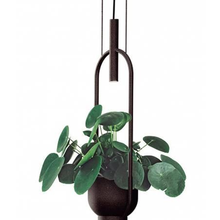 LUXCAMBRA Oxygen LED 2L black pendant lamp detail