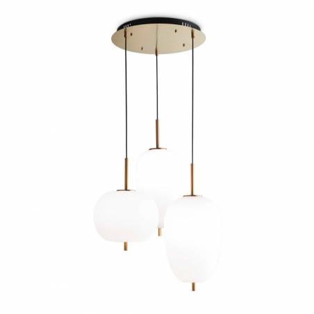IDEAL LUX Umile LED 3L glass pendant lamp