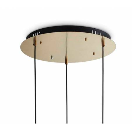 IDEAL LUX Umile LED 3L glass pendant lamp base
