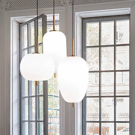 IDEAL LUX Umile LED 3L glass pendant lamp ambient 1