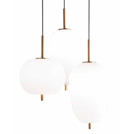 IDEAL LUX Umile LED 3L glass pendant lamp detail