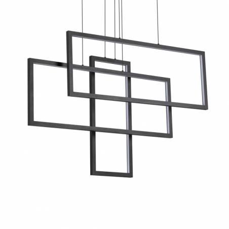 IDEAL LUX Frame LED pendant lamp rectangular