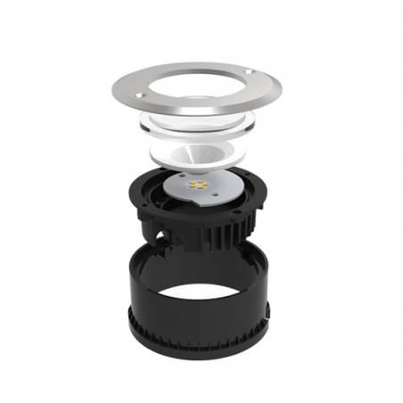 LUTEC Cydops 8w LED IP67 floor recessed light detail