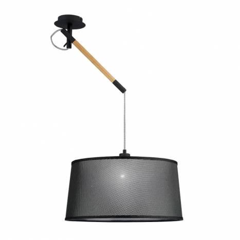 Lámpara colgante Nordica 1L E27 metal negro - Mantra