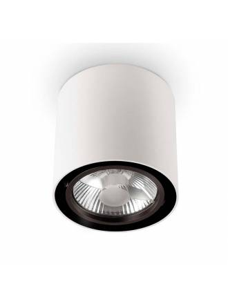 Foco superficie Mood AR111 redondo blanco - Ideal Lux