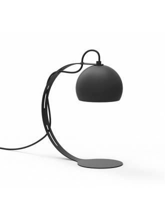 Lámpara de mesa Halley 1L E27 metal negro - Luxcambra