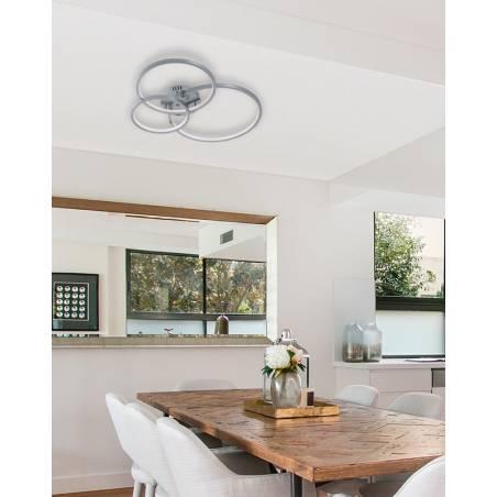 TRIO Aaron LED Smart RGB WIFI aluminium ceiling lamp ambient