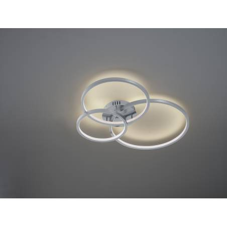 TRIO Aaron LED Smart RGB WIFI aluminium ceiling lamp ambient 1