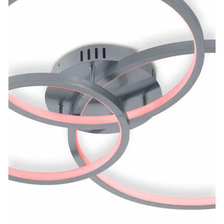 TRIO Aaron LED Smart RGB WIFI aluminium ceiling lamp detail