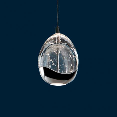 Schuller Rocio 14L LED Smart Wifi chrome pendant lamp tulip