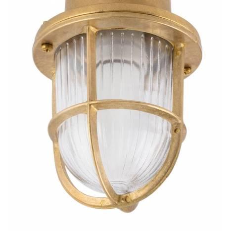 FARO Mauren E27 IP44 brass ceiling/bollard detail