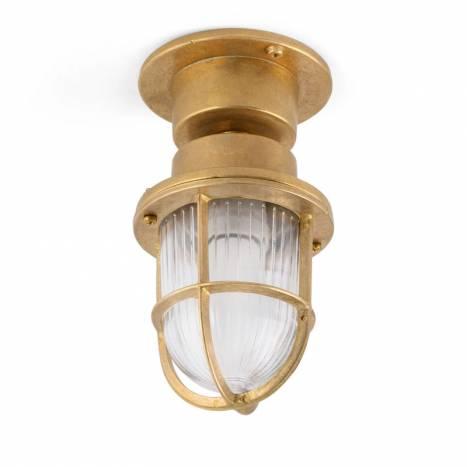 FARO Mauren E27 IP44 brass ceiling/bollard
