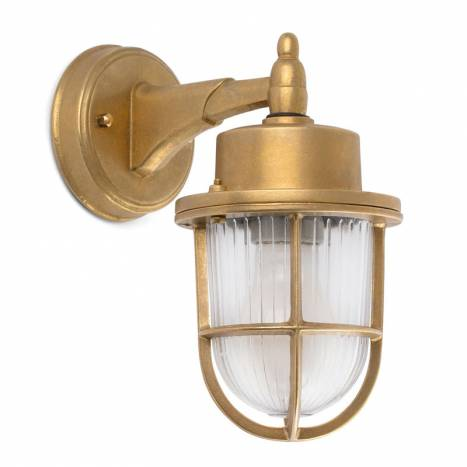FARO Nahir E27 IP44 brass wall lamp