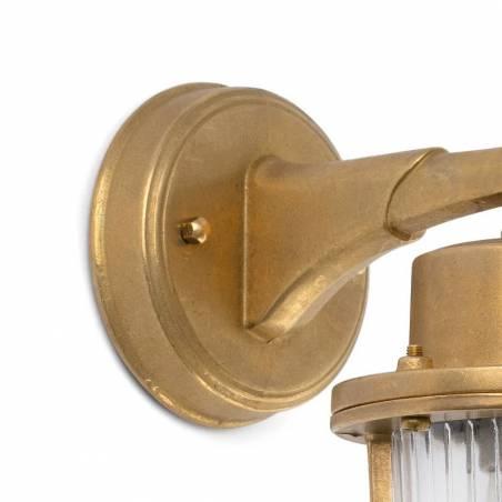 FARO Nahir E27 IP44 brass wall lamp detail