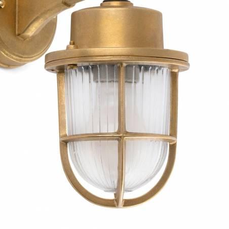 FARO Nahir E27 IP44 brass wall lamp tulip