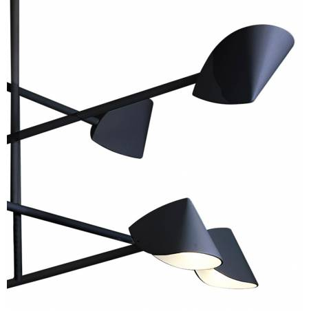 MANTRA Capuccina LED 61w black ceiling lamp detail