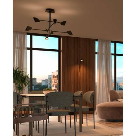 MANTRA Capuccina LED 61w black ceiling lamp ambient