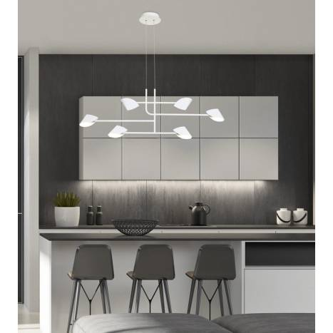 MANTRA Capuccina LED 45w white pendant lamp ambient 1