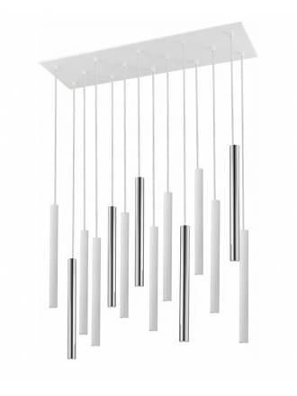 Lámpara colgante Varas LED 14L dimmable blanco - Schuller