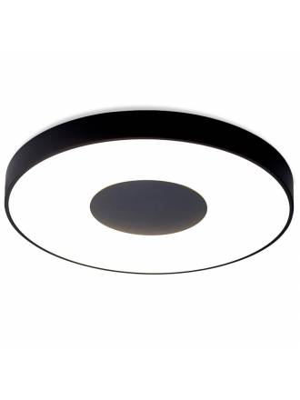 MANTRA Coin LED 100w dimmable black ceiling lamp