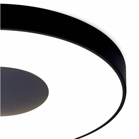 MANTRA Coin LED 56w dimmable black ceiling lamp detail