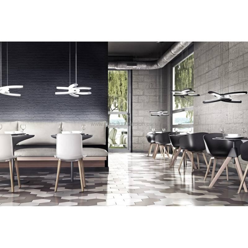L mpara colgante knot led 48w negro mantra - Lamparas de techo para salon y comedor ...