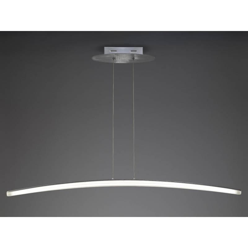 L mpara colgante hemisferic led 28w aluminio mantra for Lamparas colgantes led