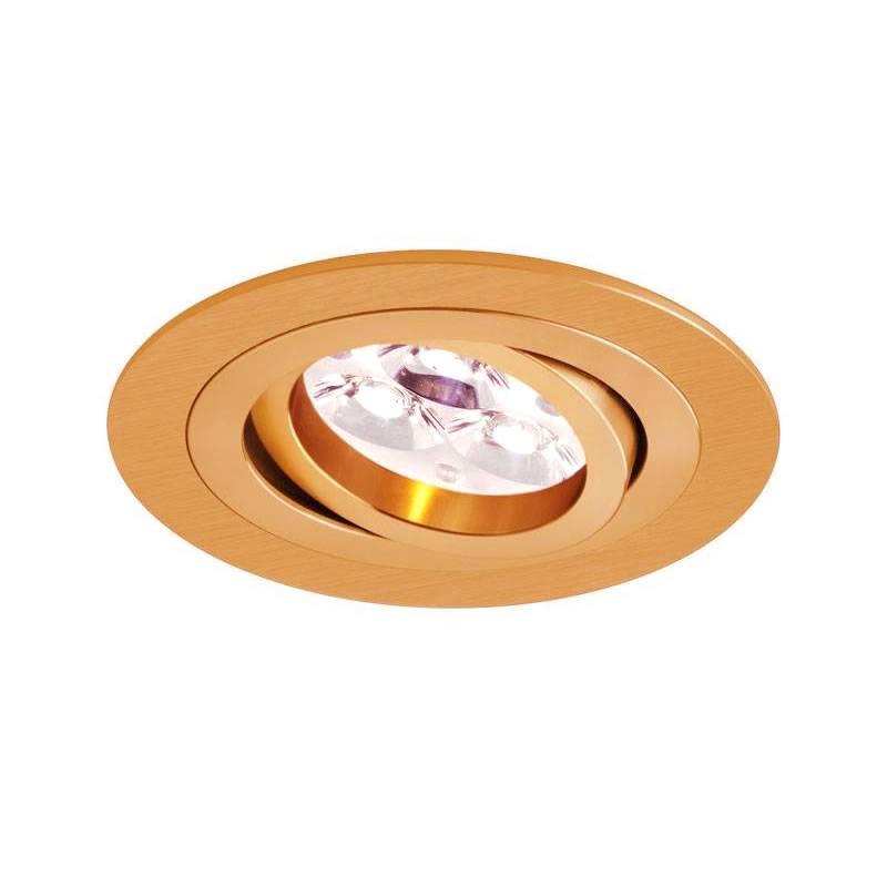 BPM Mini Catli round recessed light brushed gold