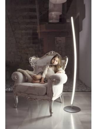 Lampara de pie Hemisferic LED 20w aluminio de Mantra