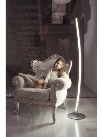 Mantra Hemisferic floor lamp LED 20w dimmable aluminium