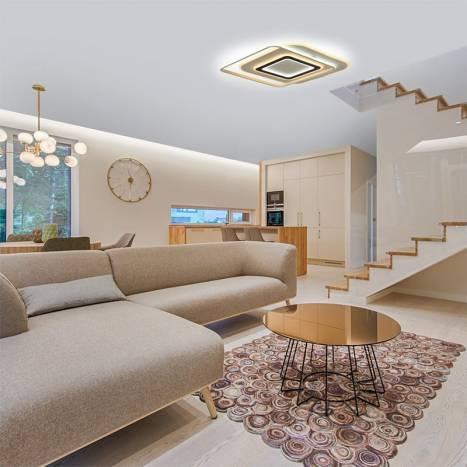 CRISTALRECORD Lyra CCT LED ceiling lamp + remote