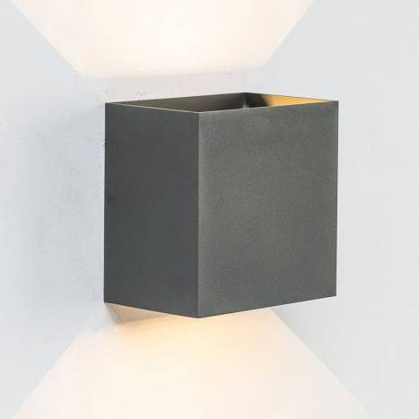 MANTRA Davos XL LED 20w IP65 anthracite wall lamp ambient