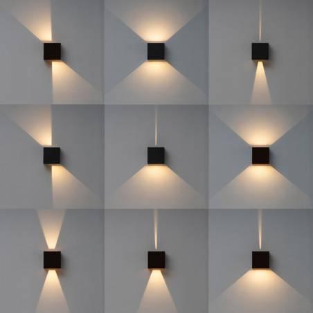 MANTRA Davos XL LED 20w IP65 wall lamp angles