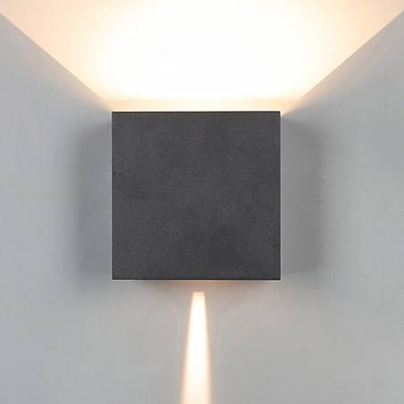 MANTRA Davos XL LED 20w IP65 anthracite wall lamp front